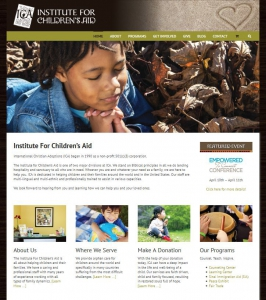 Institute For Children's Aid - New Website